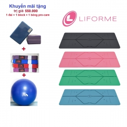 THẢM TẬP YOGA LIFORME TRAVEL 2MM